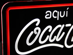 Luminoso Cocacola neón